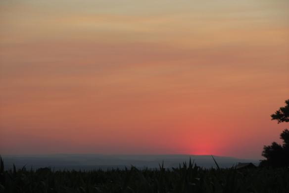 Smoke-sunset