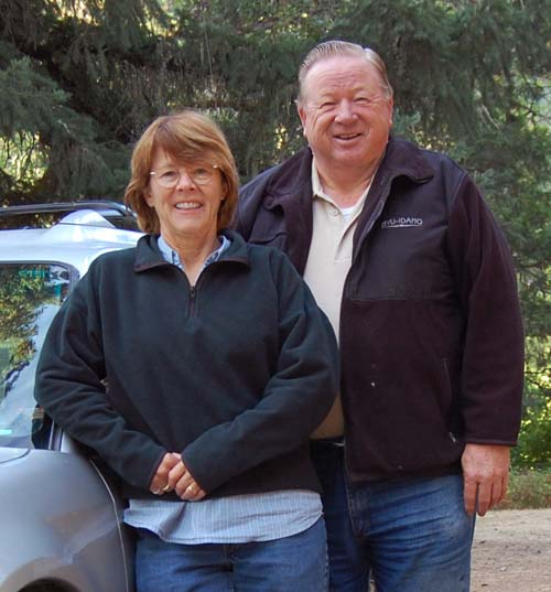 Gordon and Eileen camping