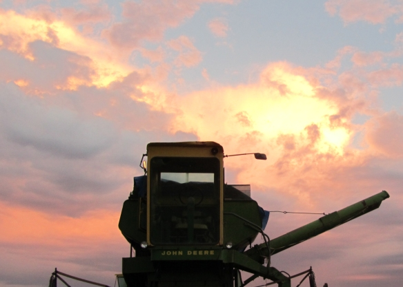 Sunset and combine 1