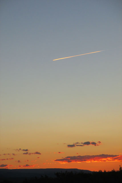 Jet-and-sunset